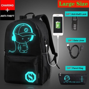 Image 3 - Mochila antirrobo para niños y niñas, morral escolar luminoso con puerto de carga USB