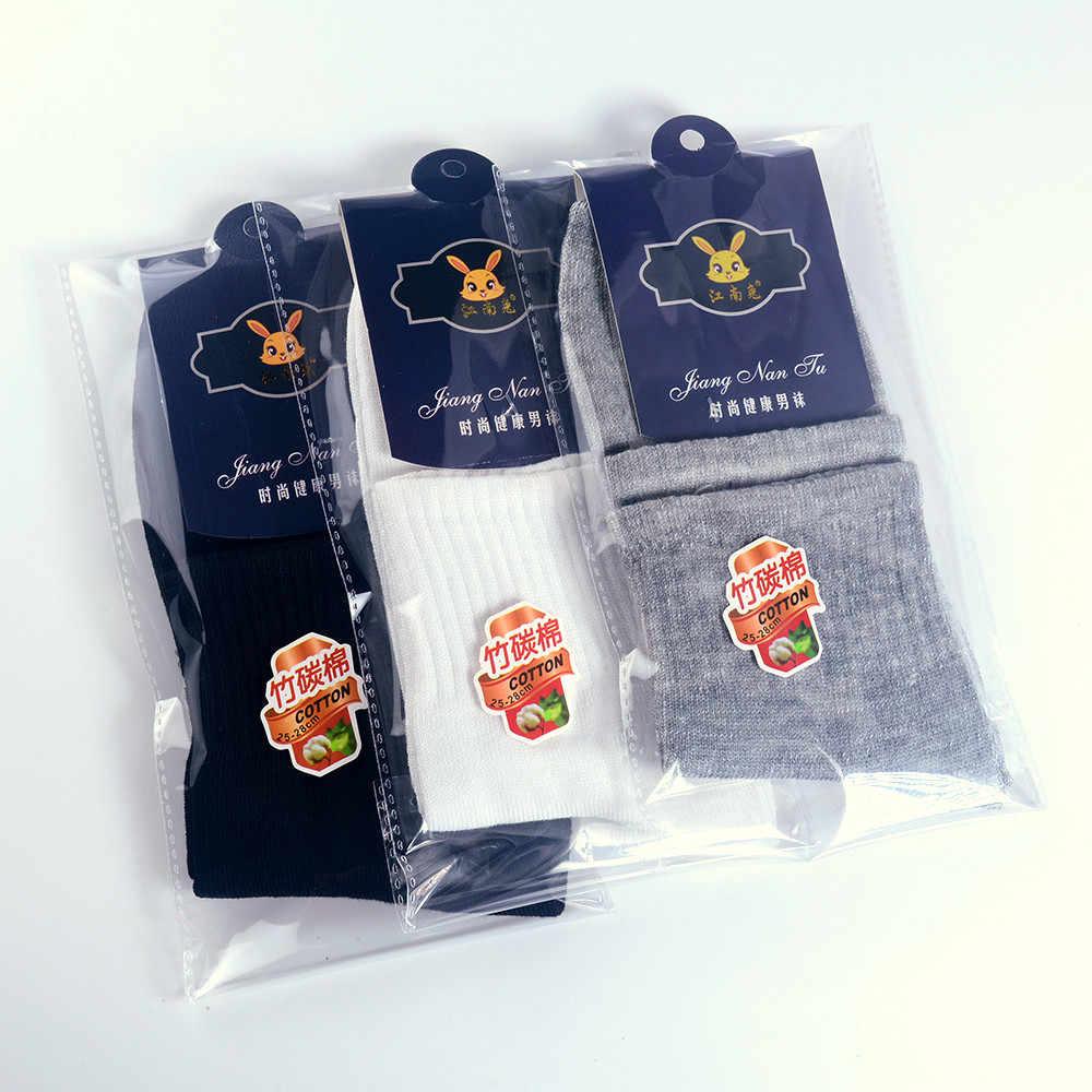 Pria Bisnis Kaus Kaki Katun Warna Solid Tabung Kaus Kaki Kasual Standar Kualitas Tinggi Pria Bisnis Y729