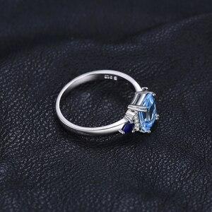 Image 3 - JPalace 3 Pietre Genuine Blu Spinello Topazio Anello In Argento Sterling 925 Anelli per Le Donne Anello di Fidanzamento In Argento 925 Pietre Preziose Gioielli