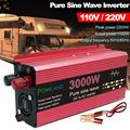 Reine Sinus-wechselrichter DC 12V 24V Zu AC 110V 220V Spannung 800W 1600W 2200W 3000W Transformator Stromrichter Solar Auto Inverte
