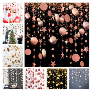 4M Snowflake Star Tree Shape Paper Garland Christmas Decoration for Home Noel Navidad Tree Ornaments Xmas New Year Party Decor