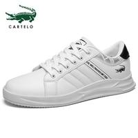 CARTELO New Men Casual Shoes Breathable Wear Resistant Shoes Comfortable Summer Toe Lace up Flat Snekaers Shoes Men