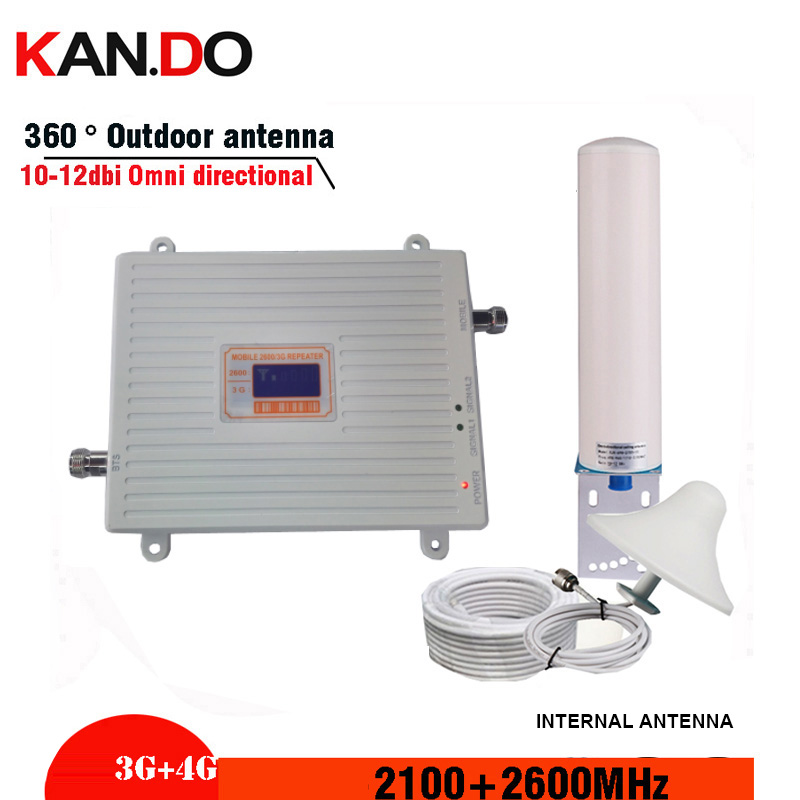 3g 4g REPEATER 3g 4g BOOSTER  DUAL Band Signal Repeater 2100 2600 GSM WCDMA UMTS LTE Cellular Signal Booster 2100/2600mhz