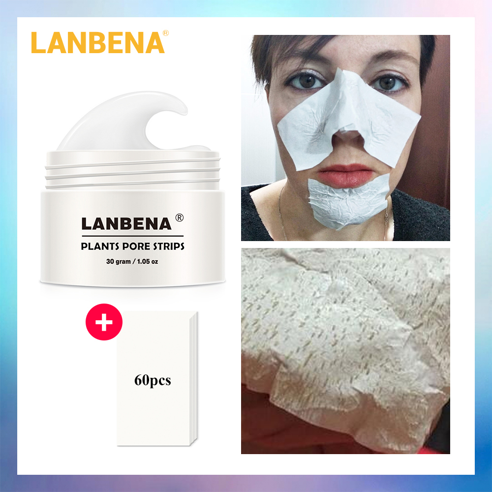 LANBENA Blackhead Remover Nose Mask Pore Strip Black Peel Off Facial Mask Acne Treatment Black Deep Cleansing Face Skin Care