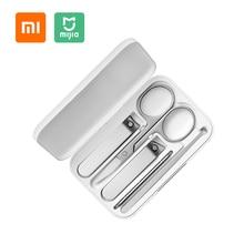 Originele Xiaomi Mijia Nagelknipper Set 5Pcs Roestvrij Manicure Pedicure Nagelknipper Cutter Nagelvijl Oor Pick Met Opslag doos