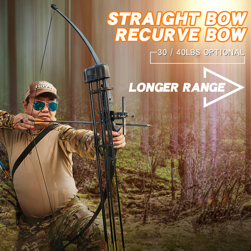 30/40 Lbs Traditional Hunting Recurve Bow Outdoor Shooting Equipment Long Bow Professional Bow And Arrow Archery Accessories