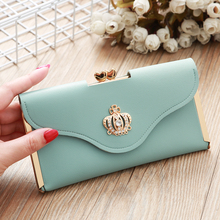 цена на Hot Sale New Women's Wallet Korean Fashion Clutch Bag Long Dinner Bag Women Card Holder