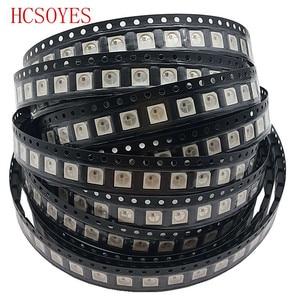Image 5 - Dc 5V 10 ~ 100Pcs WS2812B (4Pins) 5050 Smd Led Chip Individueel Adresseerbare Zwart/Wit 2016 Versie WS2812 Digitale Rgb Led Chip