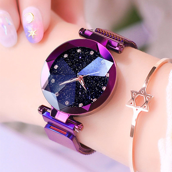 Magnet Buckle Starry Sky Diamond Watch