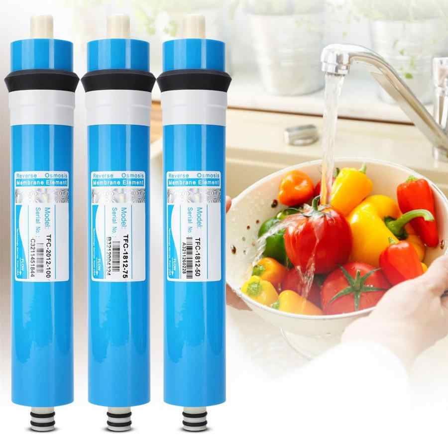50/75/100 GPD Home Kitchen Reverse Osmosis RO Membrane Replacement Water System Filter Water Purifier Drinking Treatment