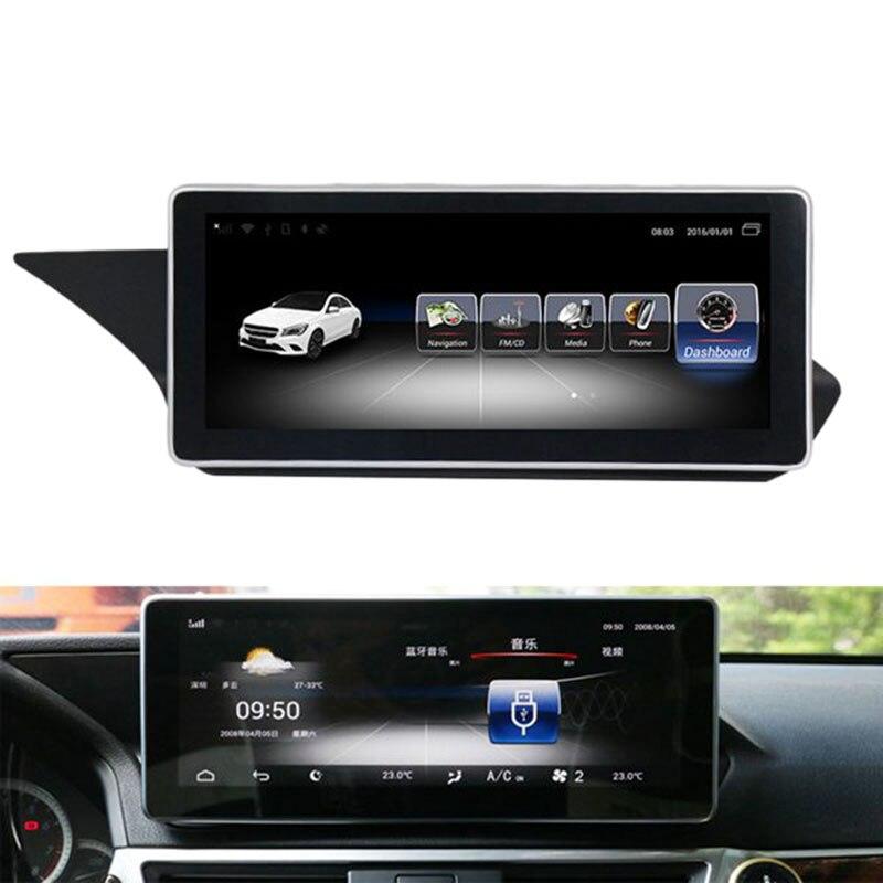 10.25 pouces Android 8.1 4G + 32G voiture GPS Navigation lecteur multimédia Bluetooth WiFi affichage pour Mercedes Benz classe E W212 2009-