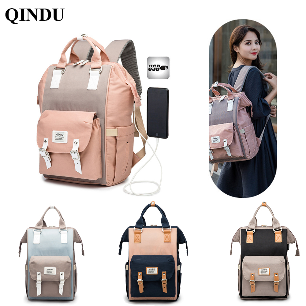 Large Nappy Bag Wet Diaper Backpack Ladies Designer Fashion Handbag For Woman Travel Maternal Nursing Packet Baby Stroller Bag