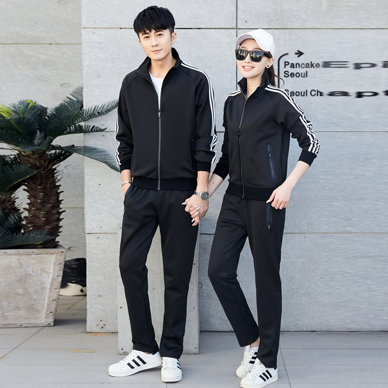 Couples Sports Set Spring And Autumn Men's Women's Casual Jogging Suits Two-Piece Set Long-sleeved Sweater WOMEN'S Coat