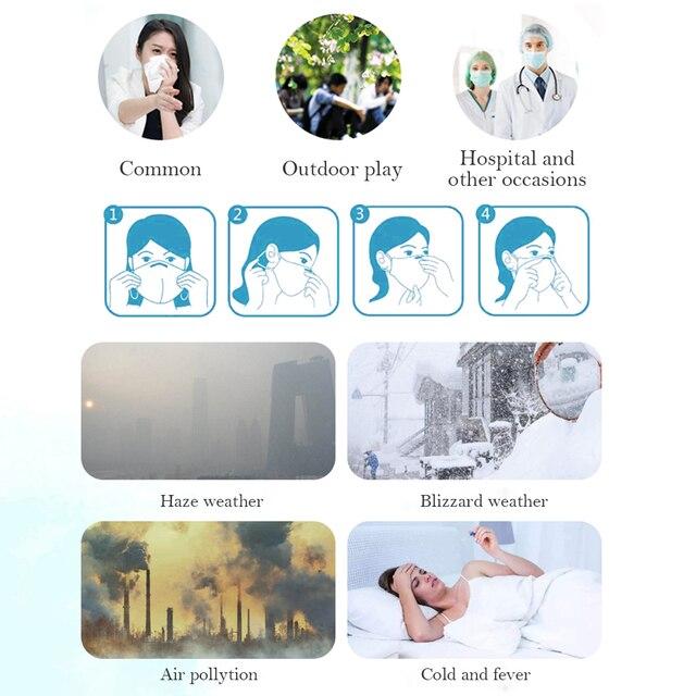 Black Face Mask Mouth Cover Washable Reusable mask Dust Soft Face Mask Breathable Unisex Anti Pollution mascherina lavabile 4