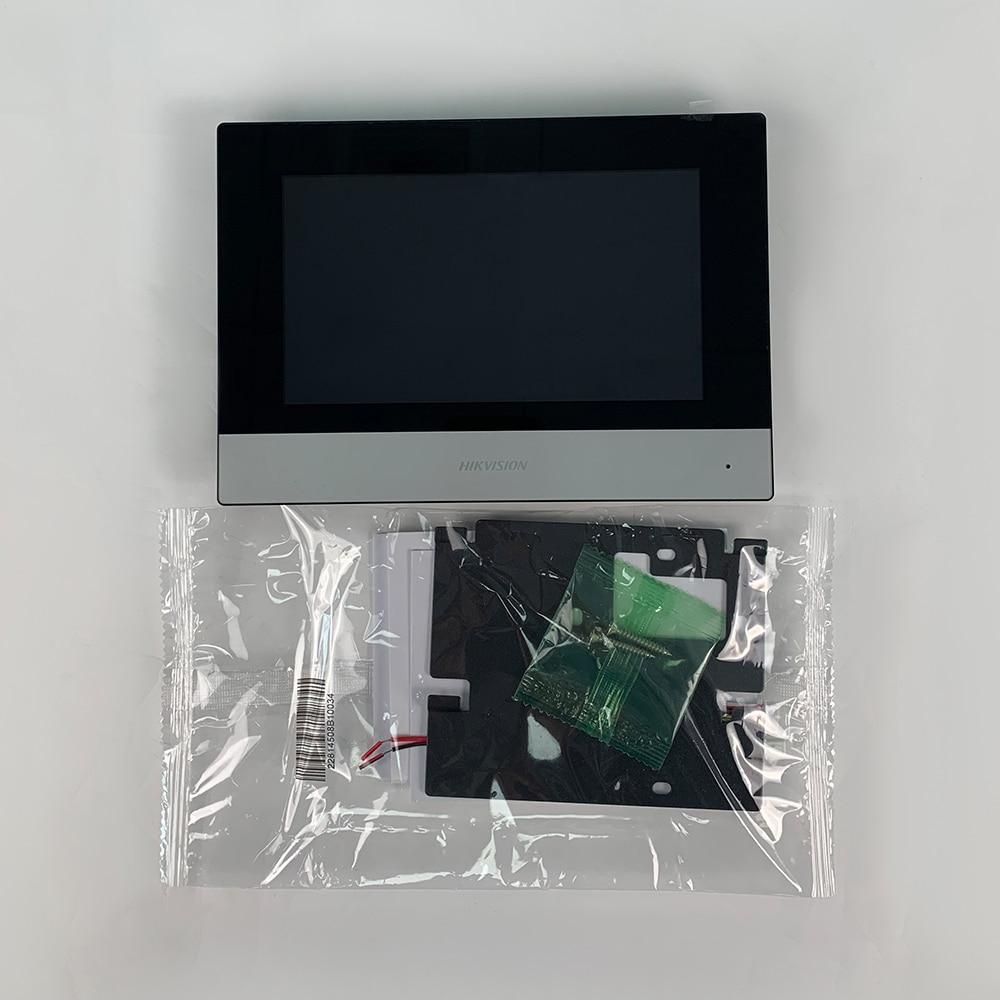 D'origine DS-KH6320-WTE1 7 pouces wifi Moniteur D'intérieur POE, interphone Vidéo sans fil Intégré haut-parleur et micro 3