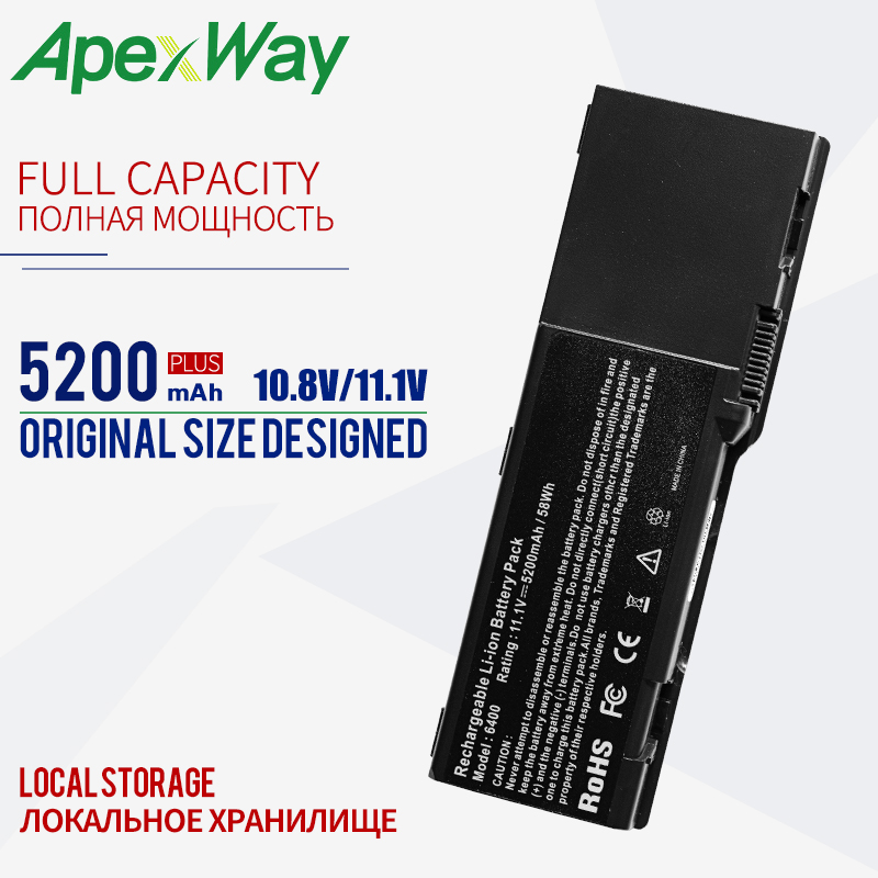 4400mAH <font><b>Battery</b></font> For <font><b>dell</b></font> <font><b>Inspiron</b></font> <font><b>1501</b></font> 6400 312-0427 312-0428 312-0460 312-0461 312-0466 312-0467 312-0599 312-0600 451-10338 image