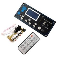Reproductor MP3 Bluetooth 5,0 para coche, Módulo de placa decodificadora FLAC APE con pantalla LCD KIT de memoria USB FM Aux Radio Lyrics Spectrum Folder Display PW
