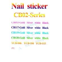 1 pçs cb02 decorações do prego manicure adesivos marca adesivo de volta cola adesivo diy decalques folha manicure arte do prego adesivos