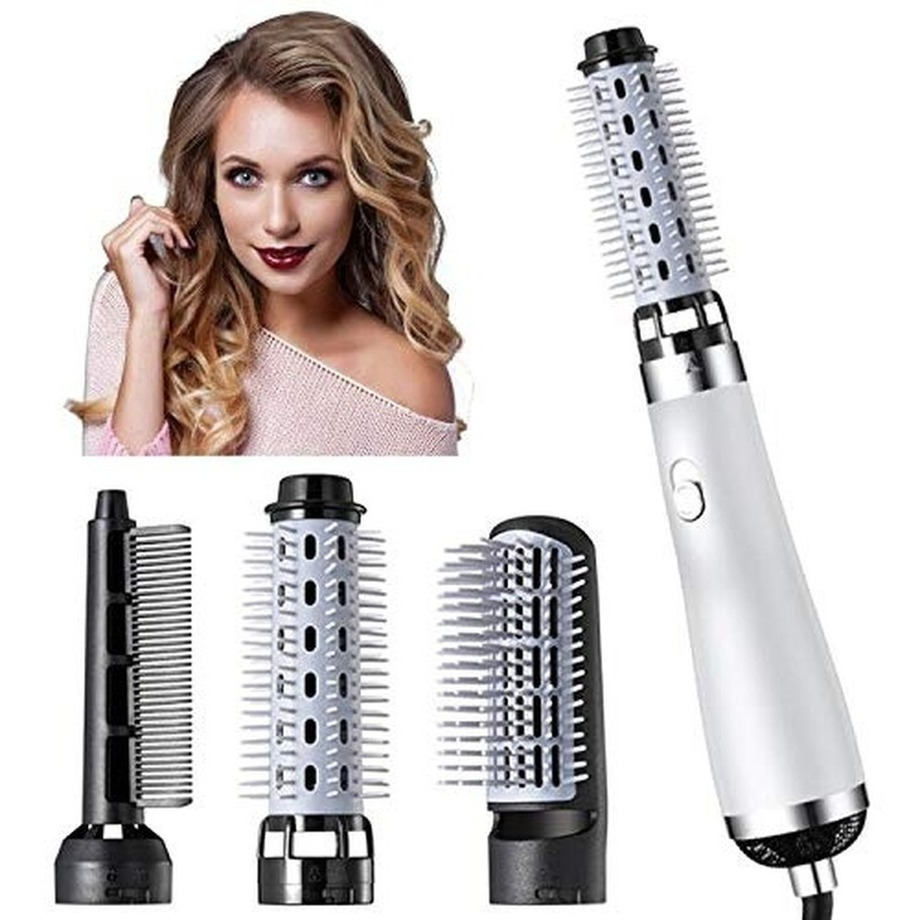 3-in-1 Hair Brush Comb Hot Air Styler Comb Straightening Curling Iron Roll Styling Brush Hair Dryer Comb Hair Styling Tool