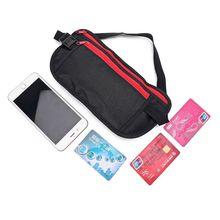 купить Slim Waist Bags Travel Sport Money Belt Hidden Wallet Pouch Passport Security Pocket Anti-Theft Chest Pack Fanny Bag дешево