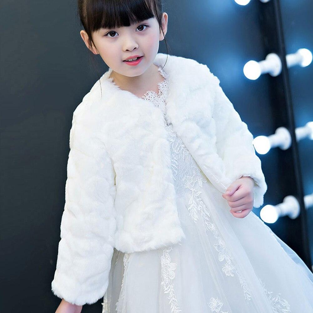 [KDMP05] 5pcs Kid Winter Warm Faux Fur Short Coat Girl Thicken Shrug Child Shawl Cape Wholesale
