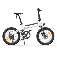 HIMO 20 Inch Folding 80KM Range Power Assist Electric Bicycle Moped E Bike 10AH beach cruiser Booster folding electric bike