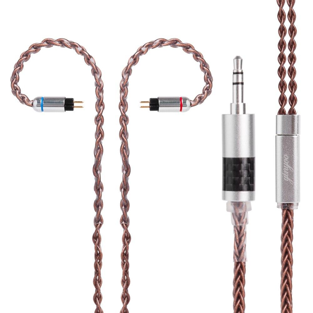 Yinyoo 8 Core Луженая Медь кабель 2,5/3,5/4,4 мм балансный кабель с MMCX/2pin разъем для LZ A6 Sony Yinyoo ZS10 AS10 ZSA|Наушники и гарнитуры| | АлиЭкспресс