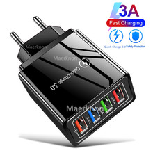 Quick Charge 3.0 4.0 USB Charger 3.1A Fast Wall Mobile Phone