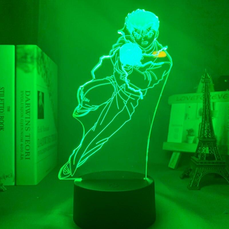 H8ca57014d6164e6a8ba3dfaac201e70du Luminária Yu yu hakusho yusuke urameshi conduziu a luz da noite para o quarto decoração presente colorido nightlight anime 3d lâmpada yu yu hakusho