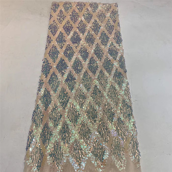 The latest African mesh lace fabric 2020 high-quality sequined Nigerian lace fabric 5 yards French tulle lace fabric ZX36781