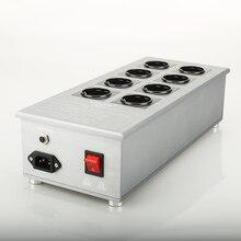 고품질 8 가지 방법 Schuko 소켓 AC 전원 분배기 3300 W/15A 50HZ 3KG 서지 보호 기능이있는 발전소 VE80 필터