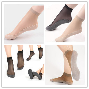 5/10Pairs Nude/Black Sock Women Socks Female Summer Style Thin Transparent Elastic Short Wear-Resistant Bottom - discount item  30% OFF Women's Socks & Hosiery