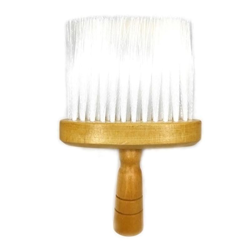 Wooden Handle Fiber Bristles Neck Face Duster Clean Brush For Barbers Hair Cutting Salon Professional Hairdressing Hair Cutting