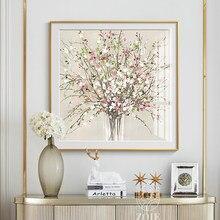 Pintura en lienzo de flores modernas, pósteres impresos de pared escandinava, imágenes artísticas para sala de estar, dormitorio, comedor, decoración nórdica para el hogar
