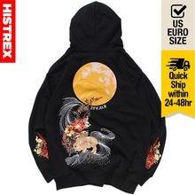 2020男性ヒップホップパーカー綿100のスウェットシャツ刺繍花満月ウサギ原宿ストリート秋ピンクプルオーバーxxl