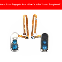 Impressão digital casa botão cabo flexível para xiaomi pocophone poco f1 menu chave reconhecimento sensor flex fita cabo peças de reposição