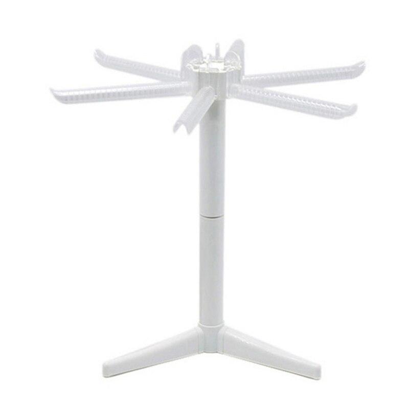 Plástico casa macarronete dobrável rack de secagem branco dobrável espaguete macarrão secador suporte removível não deslizamento macarronete cabide