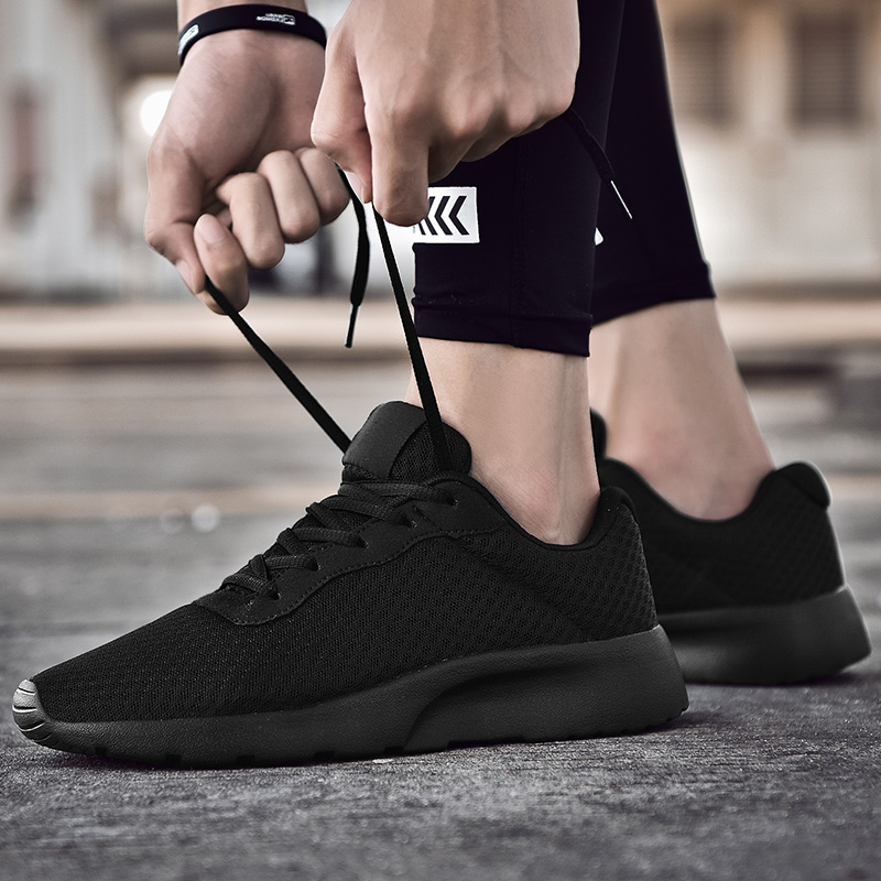 Spring New Men Casual Shoes Lace Up Lightweight Comfortable Breathable Walking Sneakers Tenis Feminino Zapatos Big Size 35-48
