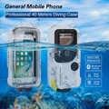 Étanche Bluetooth téléphone étui pour samsung Galaxy S8 S9 S10 Plus Note 8 9 10 plongée boîtier de téléphone portable housse de protection 1PC