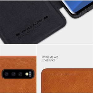 Image 3 - Pour Samsung Galaxy S10 S10e S10 + Plus étui à rabat Nillkin QIN cuir carte poche portefeuille protection couvercle rabattable pour Samsung S10Plus
