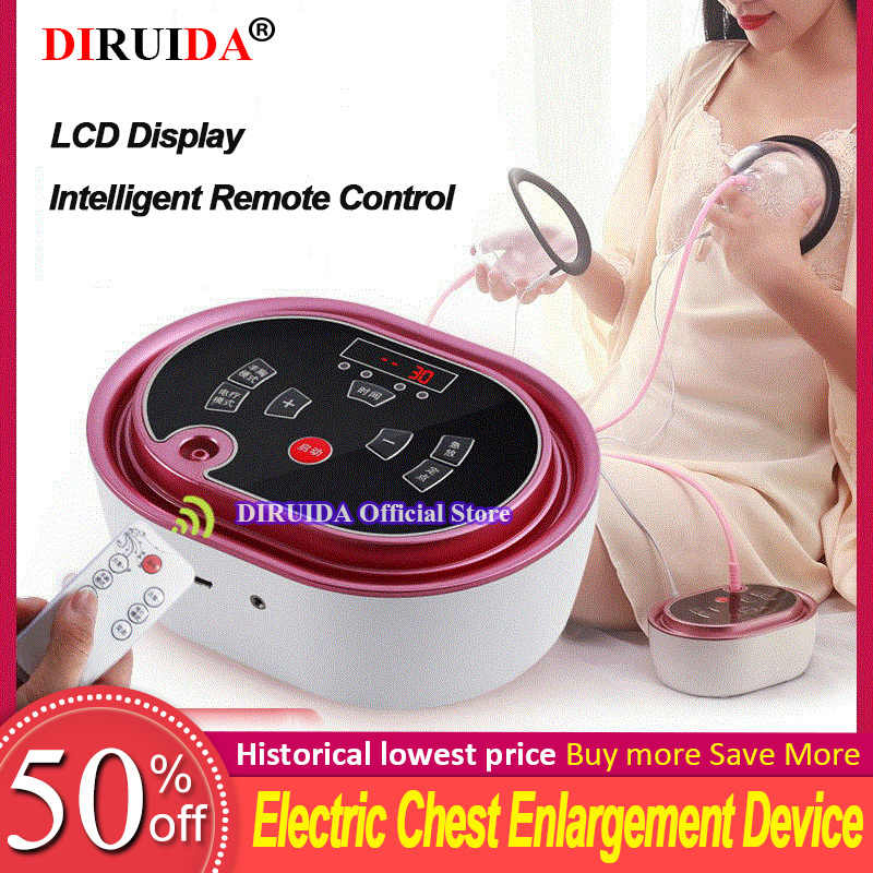 Electric Breast Massager Enhancement Enlargement Chest Massage Infrared Heating Therapy Vacuum Pump Cup Breast Massager Tool Aliexpress