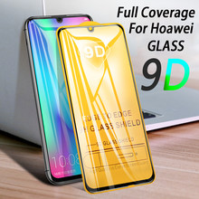 9D Tempered Glass For Huawei Honor 10 lite 8X 20 pro Screen Protector For Huawei P20 lite Y6 Y7 Pro Y9 2019 Nova 3 3i Protective(China)