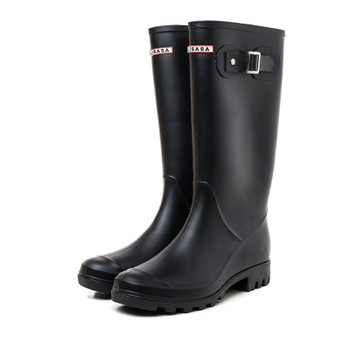 rain boots female Martin boots snow boots waterproof motorcycle boots high boots rain boots buckle long tube shoes