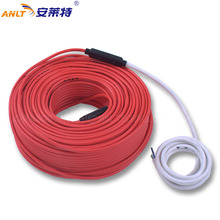Double Core Conductor Floor Heating  System Cable For Sidewalk Snow Melting Home Warming 600w 32m twin core heating cable for power saving soil heating protection system wholesale hc2 18 600