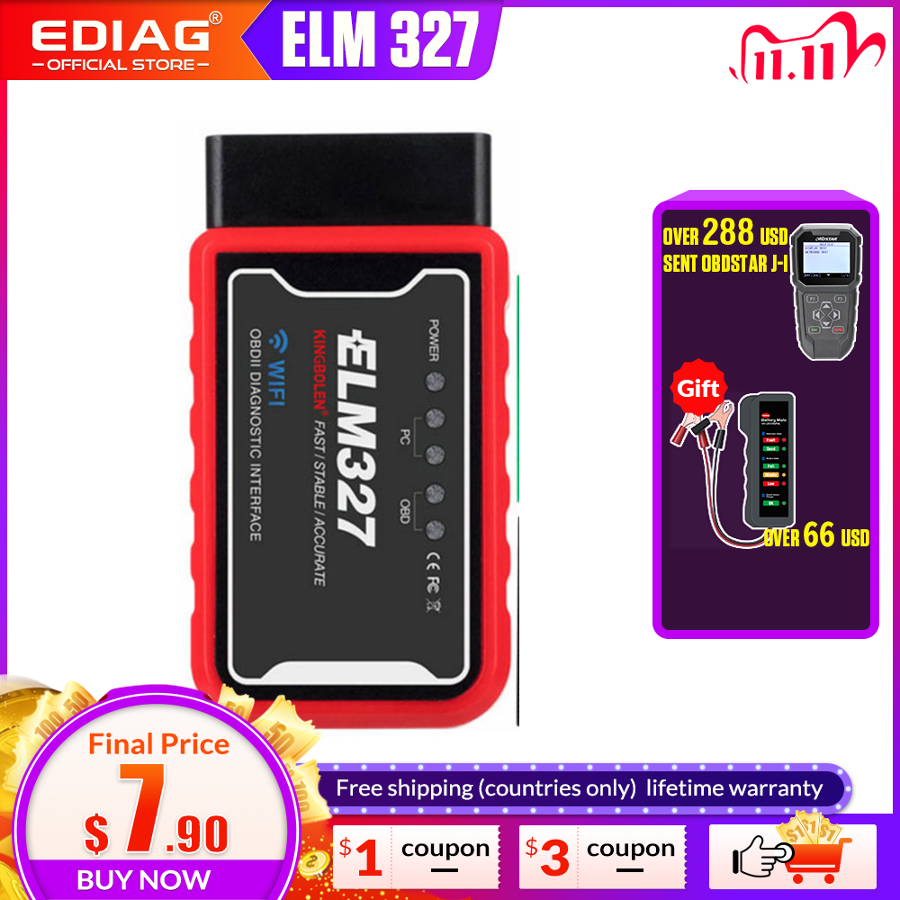 ELM327 WiFi Bluetooth V1 5 PIC18F25K80 Chip OBDII Diagnostic Tool For IPhone Android PC ELM 327 V 1 5 Auto Scanner Torque OBD