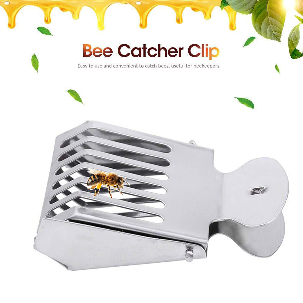 1 PCS Stainless Steel Beekeeping Queen Bee Catcher Cage Bees Marking Catchers Clip Durable Material Beekeeper Apiculture Tool
