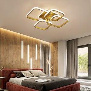 Image 5 - Acylic תקרת אורות כיכר טבעות לסלון חדר שינה בית AC85 265V מודרני Led תקרת מנורת גופי זוהר plafonnier