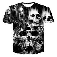 Männer der 3D Gedruckt Schädel Serie Casual T-Shirt Männer Und Frauen Liebhaber Mode Wilden kühlen Kurzen Ärmeln Hemd Mode t-shirt Tops