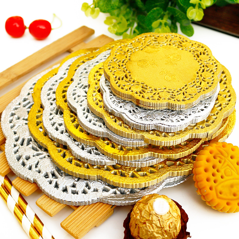 Hot Sale 50 Pcs Round Lace Paper Cake Doilies Decoration Wedding Party Supply
