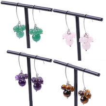 Fashion classic natural stone earrings, new trend earrings stainless steel hooks.
